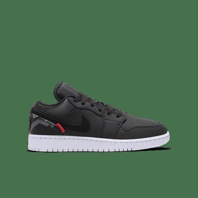 Air Jordan 1 Low 'PSG' Black/Dark Grey/Infrared 23/Black CN1077-001