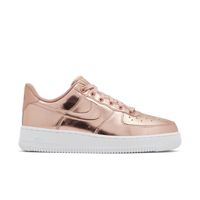 Nike Women's Air Force 1 Metallic 'Bronze' Metallic Red Bronze/White/Rose Gold CQ6566-900