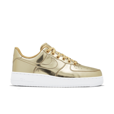 Nike Women's Air Force 1 Metallic 'Gold' Metallic Gold/White/Club Gold CQ6566-700