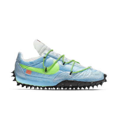 Nike x Off-White Women's Waffle Racer 'Athlete in Progress' Vivid Sky/Black/Electric Green CD8180-400