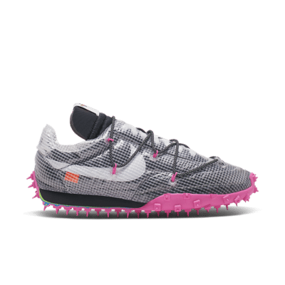 Nike x Off-White Women's Waffle Racer 'Athlete in Progress' Black/Fuchsia/White CD8180-001