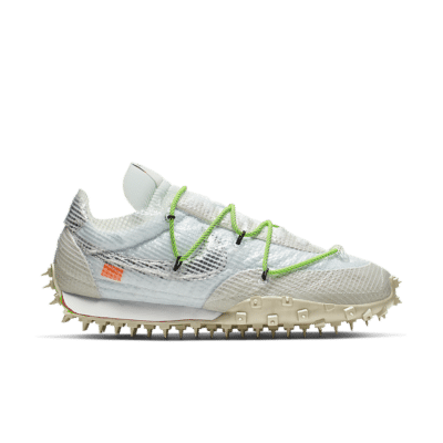 Nike x Off-White Women's Waffle Racer 'Athlete in Progress' White/Electric Green/Black CD8180-100