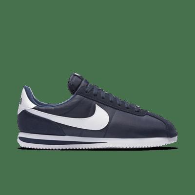Nike Cortez Basic Nylon Obsidian White-Metallic Silver 819720-411