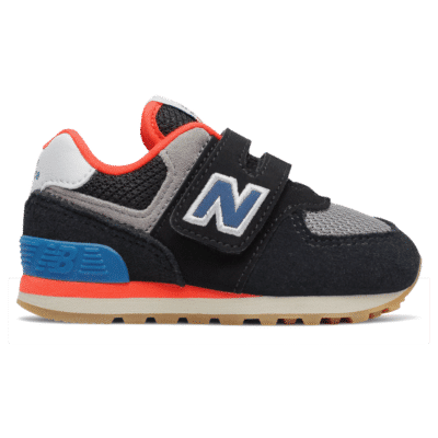 Jungen New Balance Hook and Loop 574 Black/Neo Classic Blue IV574SOV