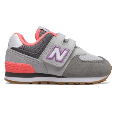 New Balance Hook and Loop 574  Summer Fog/Tahitian Pink IV574SOC