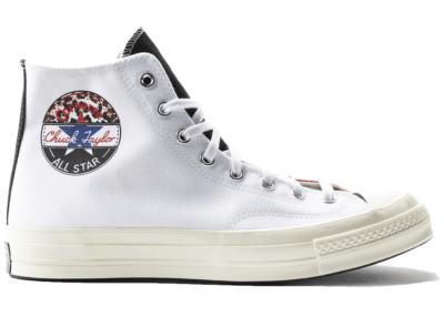 Converse Chuck 70 Hi Logo Play White University Red 166747C
