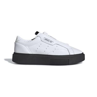 adidas Originals – Super Sleek – Sneakers in wit met rits