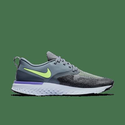 Nike Odyssey React 2 Flyknit Hydrogen Blue Lime Blast AH1015-401