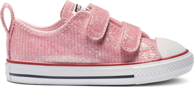 Converse Chuck Taylor All Star Hook and Loop Sparkle Low Top Pink 763550C