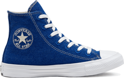 Converse Renew Cotton Chuck Taylor All Star High Top voor kleuters Rush Blue/Natural/White 366996C
