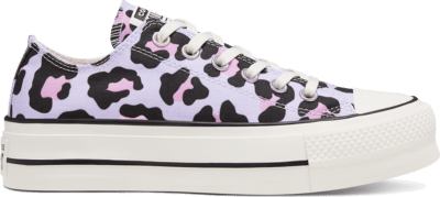 Converse Leopard Platform Chuck Taylor All Star Low Top voor dames Vintage White/Multi/Black 568003C