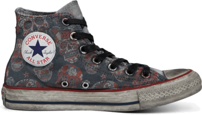 Converse Unisex Sugar Skull Tattoo Chuck Taylor All Star High Top Tattoo Mex Skulls 167391C