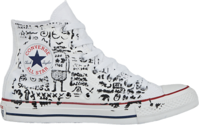 Converse Unisex Hand-Painted Chuck Taylor All Star High Top Robot Graffiti 167397C