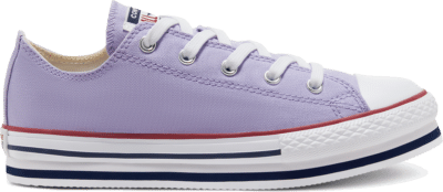 Converse Everyday Platform Chuck Taylor All Star Low Top voor kids Moonstone Violet/Midnight Navy 668029C