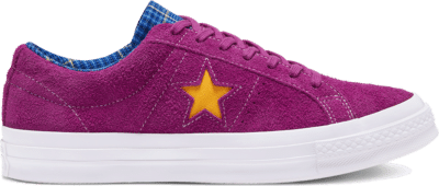 Converse Unisex Twisted Prep One Star Low Top Rose Maroon/Rush Blue/Amarillo 166846C