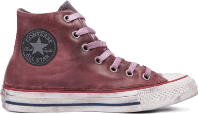 Converse Chuck Taylor All Star Premium Vintage Leather High Top Red 165774C