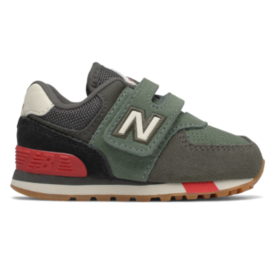 New Balance Hook and Loop  Camo Green/Team Red IV574JHR