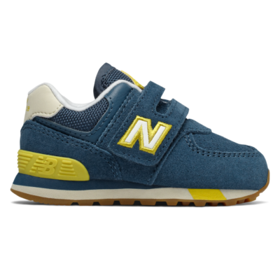 New Balance Hook and Loop  Chambray/Chartreuse IV574JHP