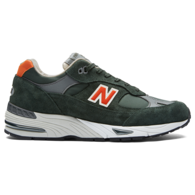 New Balance 991 Made in UK  Forest Green/Orange M991TNF