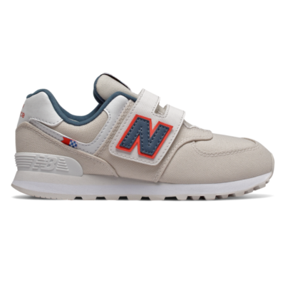 New Balance Hook and Loop 574  Linen Fog/Stone Blue YV574SOM