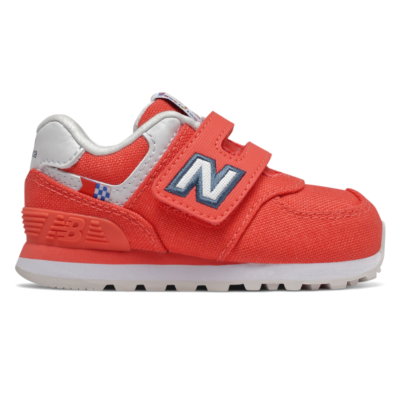 New Balance Hook and Loop 574 Coastal Pack  Toro Red/White IV574SOL