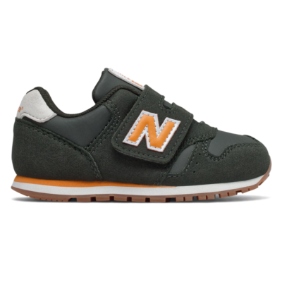 New Balance Adjustable Hook and Loop 373  Dark Green/Yellow IV373CL