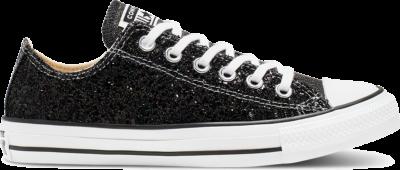 Converse – Chuck Taylor Ox – Glitter sneakers in zwart