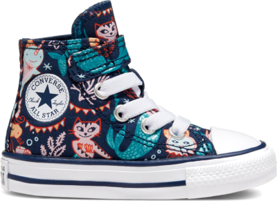 Converse CTAS 1V HI NAVY/RAPID TEAL/WIT Navy/Rapid Teal/White 767203C