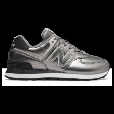 New Balance 574  Silver Metallic/Black WL574WNE