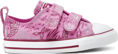 Converse CTAS 2V OX PEONY PINK/ROSE MAROON/WIT Peony Pink/Rose Maroon/White 767205C