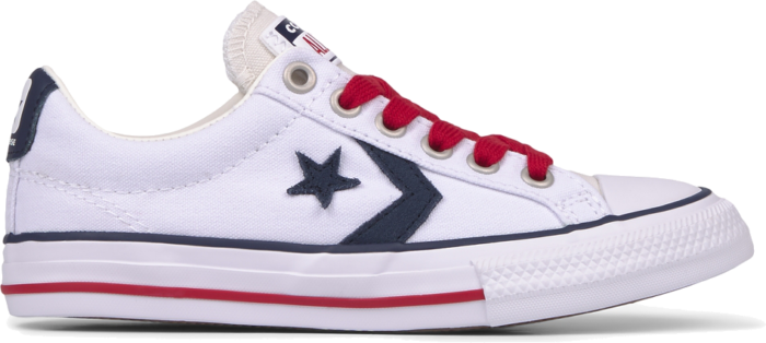 Converse Big Kids Twisted Classics Star Player Low Top White/Obsidian/Gym Red 668013C