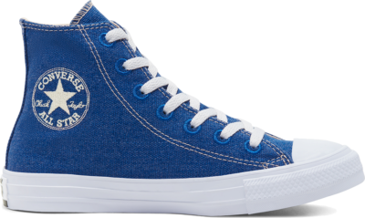 Converse Unisex Renew Cotton Chuck Taylor All Star High Top Rush Blue/Natural/White 166741C