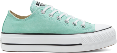Converse Seasonal Color Platform Chuck Taylor All Star Low Top voor dames Ocean Mint/White/Black 566758C