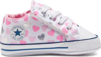 Converse Heartsfall Chuck Taylor All Star Cribster White/Cherry Blossom/Silver 868020C