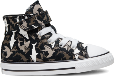 Converse Shark Bite Easy On Chuck Taylor All Star High Top voor peuters Black/University Red/White 766889C