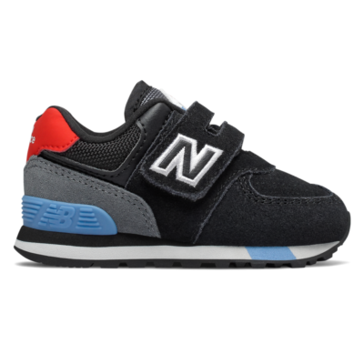 New Balance Hook and Loop  Black/Velocity Red IV574JHO