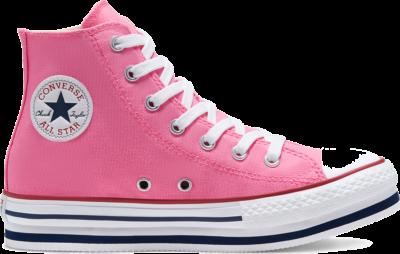 Converse Everyday Platform Chuck Taylor All Star High Top voor kids Pink/Midnight Navy/Garnet 668027C