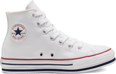 Converse Everyday Platform Chuck Taylor All Star High Top voor kids White/Midnght Navy/Garnet 668026C