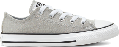 Converse Coated Glitter Chuck Taylor All Star Low Top voor kids Grey/ Black 666896C