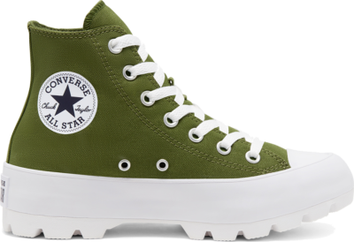 Converse Lugged Seasonal Color Chuck Taylor All Star High Top voor dames Cypress Green/Black/White 567163C