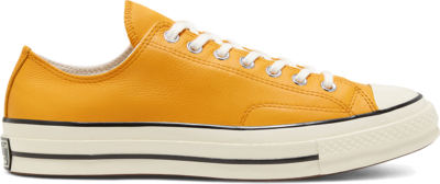 Converse Unisex Seasonal Color Leather Chuck 70 Low Top Sunflower Gold/Egret/Egret 167066C