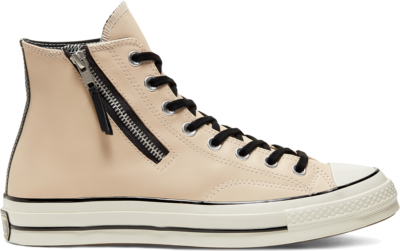 Converse Unisex Leather Side Zip Chuck 70 High Top Desert Ore/Black/Egret 166722C