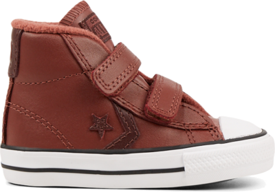 Converse Leather Hook and Loop Star Player Mid voor peuters Red 766044C