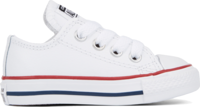 Converse Leather Chuck Taylor All Star Low Top voor baby's White 735892C