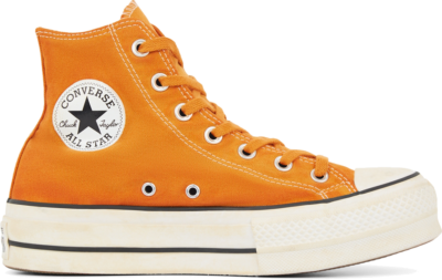 Converse Italian Crafted Dye Chuck Taylor All Star Platform High Top voor dames White 566472C