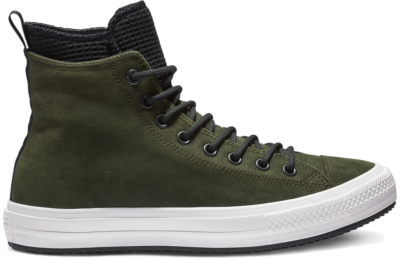 Converse Converse Chuck Taylor All Star Waterproof Leather High Top Green/ Black 162408C