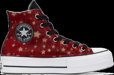 Converse Metallic Fur Chuck Taylor All Star Platform High Top voor dames Black 566465C