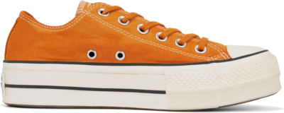 Converse Italian Crafted Dye Chuck Taylor All Star Platform Low Top voor dames White 566470C