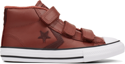 Converse Leather Hook and Loop Star Player Mid voor kinderen Red 666039C