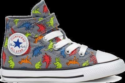 Converse Chuck Taylor All Star Dinoverse Velcro Grey 766202C